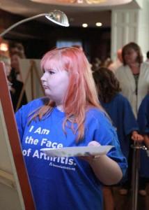 Kaitlyn Brooks at last year's event. Photo courtesy of Kansas City Arthritis Foundation.