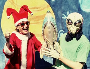 Jeanne Beechwood, founder of Martin City Melodrama, and a Martian for the coming Christmas show.