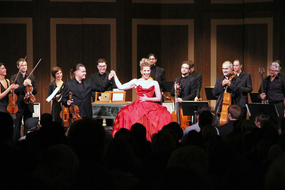 In November 2012, Joyce DiDonato performed with the Complesso Barocco Orchestra as part of the Harriman-Jewell Series. Photo courtesy of the series.