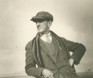 Marsden Hartley aboard a ship to Europe, 1912. Image courtesy of Marsden Hartley Collection.