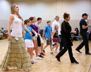 The performers cast as members of the Von Trapp family practiced their choreography during summer 2014 rehearsals for The Sound of Music at Starlight Theatre. Each summer Starlight self-produces at least one of the productions on its Broadway season schedule.