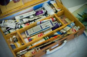 Art supplies. Photo by Mark Berndt.