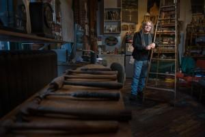 Artist Douglas Schwietert in his Hobbs Building studio. Photo by Mark Berndt.