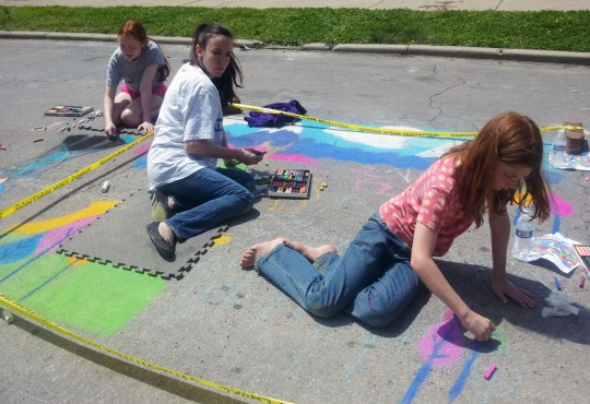 Northeast Arts KC Chalk Walk, April 25th and 26th
