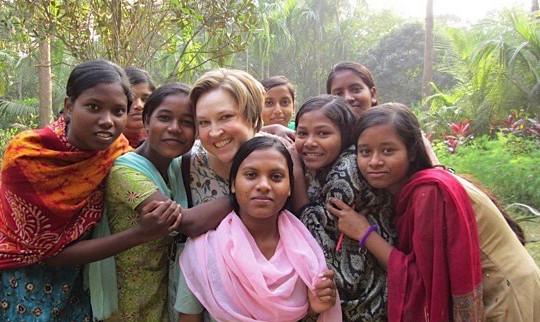 Taken Dec. 28, 2014 in northern Kolkata at Khelaghar, a boarding school for at-risk, underprivileged girls. Aidan spent an afternoon with them, singing, chatting, and learning about their lives there, and their plans to go to college.