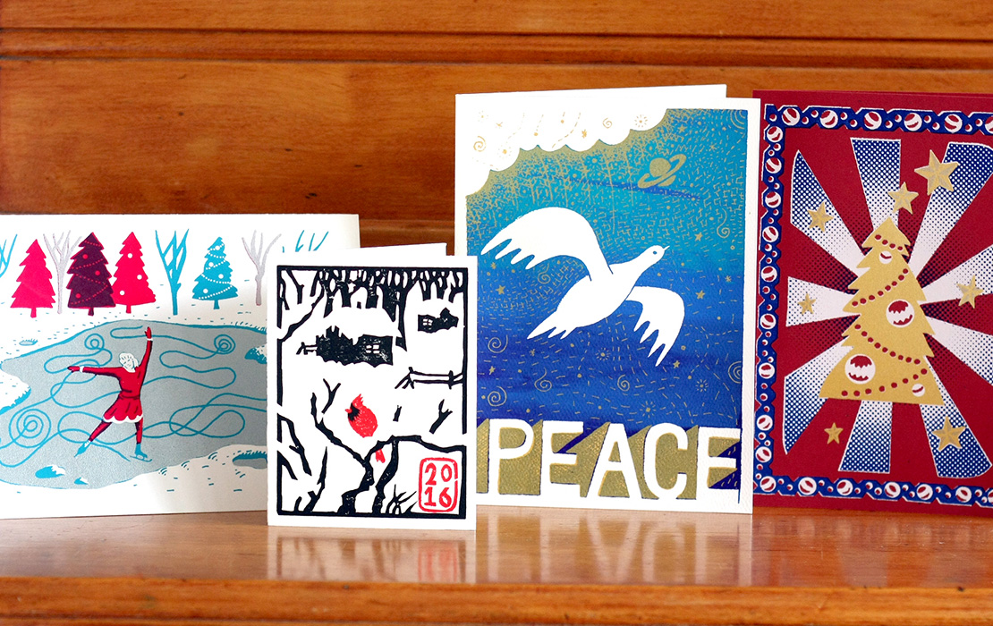 Holiday cards by Jason Needham