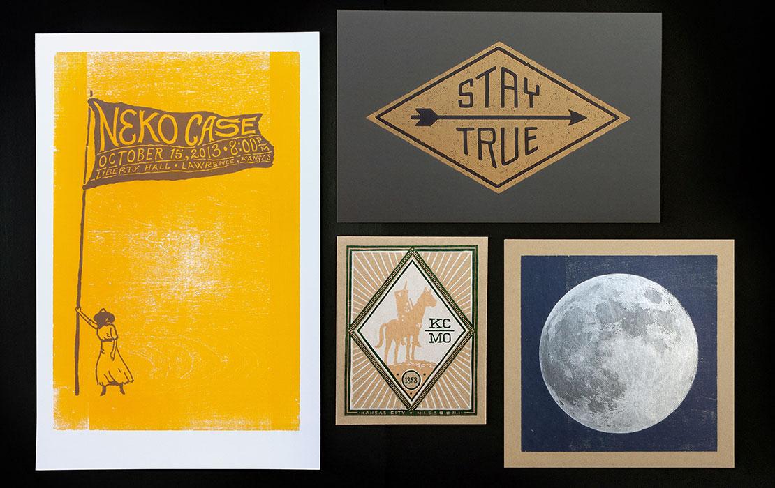 Letterpress cards from Hammerpress
