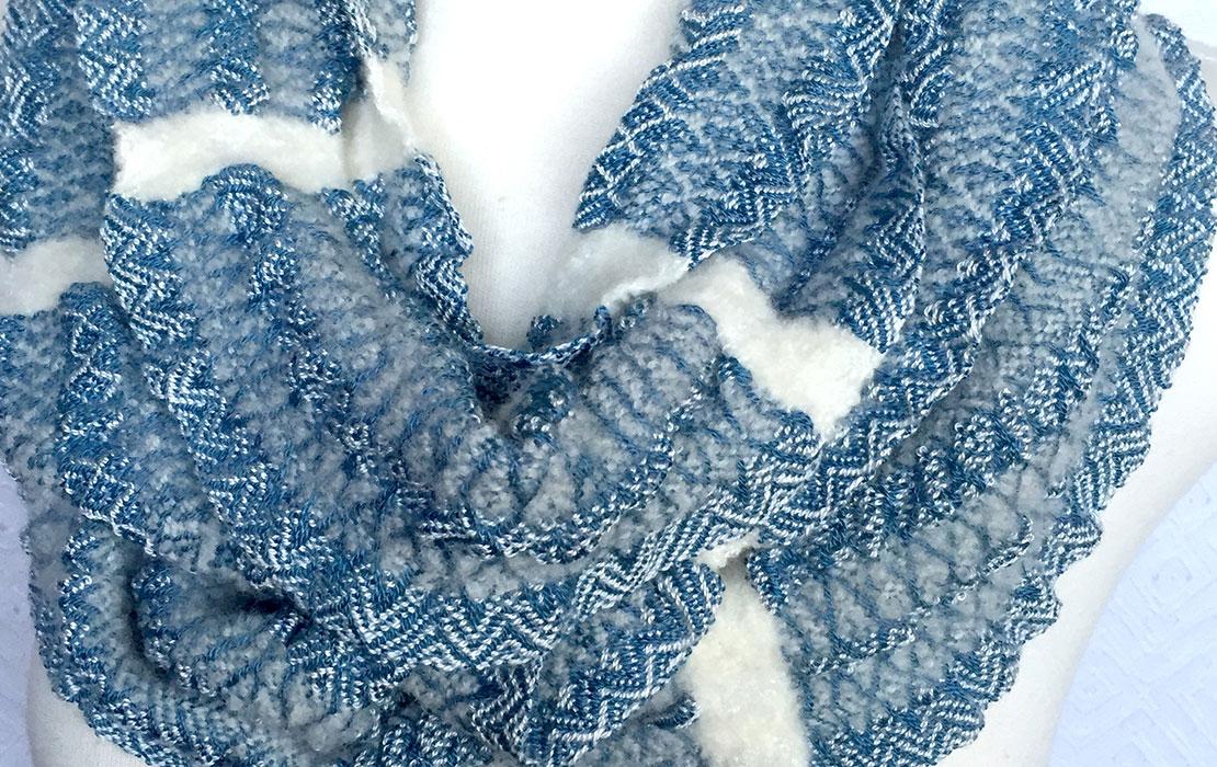 Handwoven scarves by Debbie Barrett-Jones