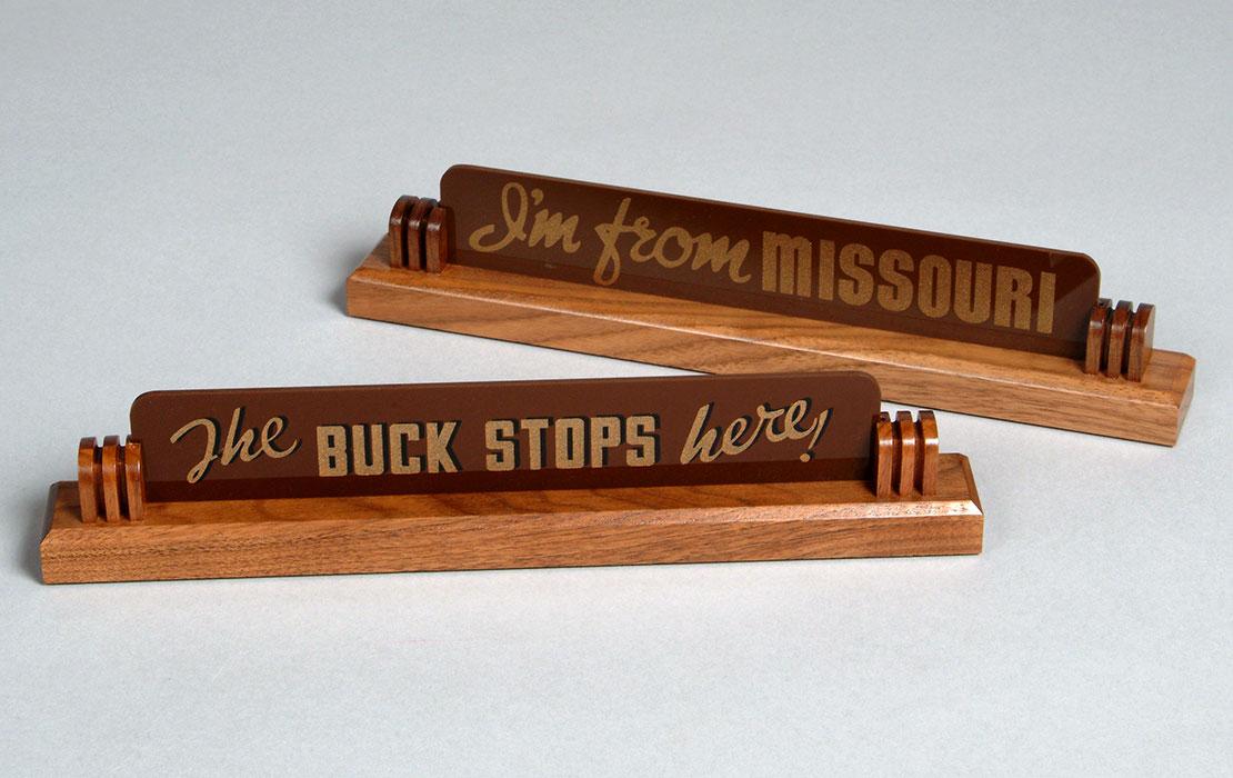 Harry S. Truman Replica Desk Signs