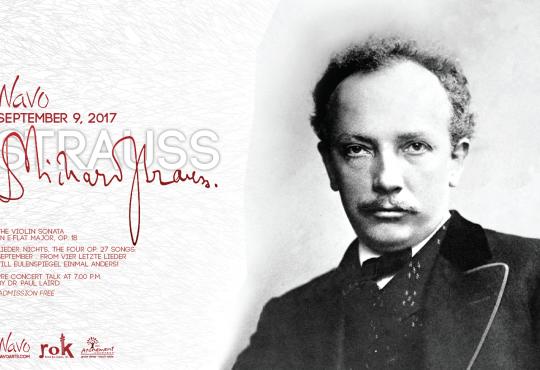 NAVO presents: The powerful lyricism of Richard Strauss