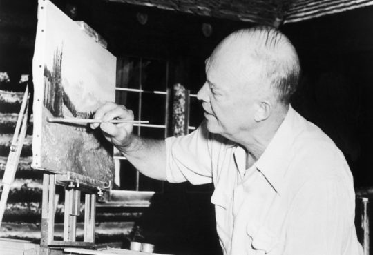 A Watercolor Lesson for Eisenhower and a Memorable Day for Kansas City Artist Jim Hamil