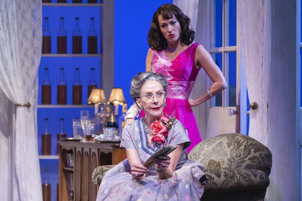 Vanessa Severo and Merle Moores in CAT ON A HOT TIN ROOF (Photo by Don Ipock)