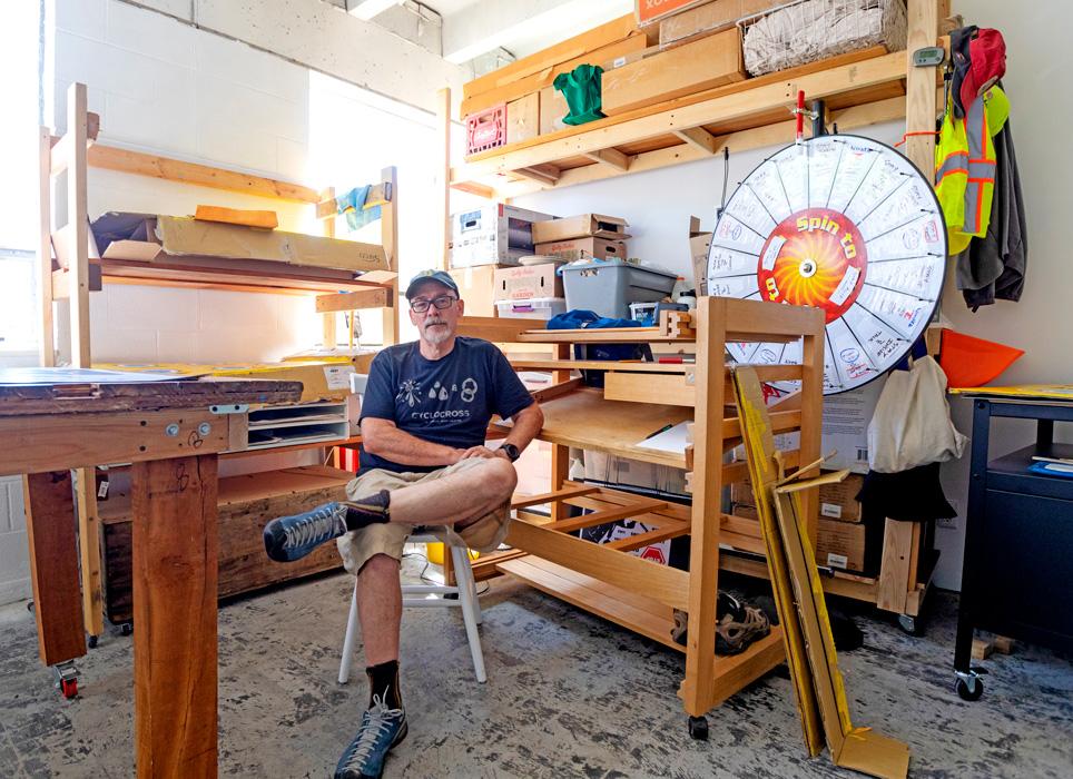Artist Don Wilkinson inside his studio