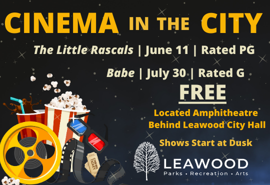 Cinema in the City, June 11 and July 30