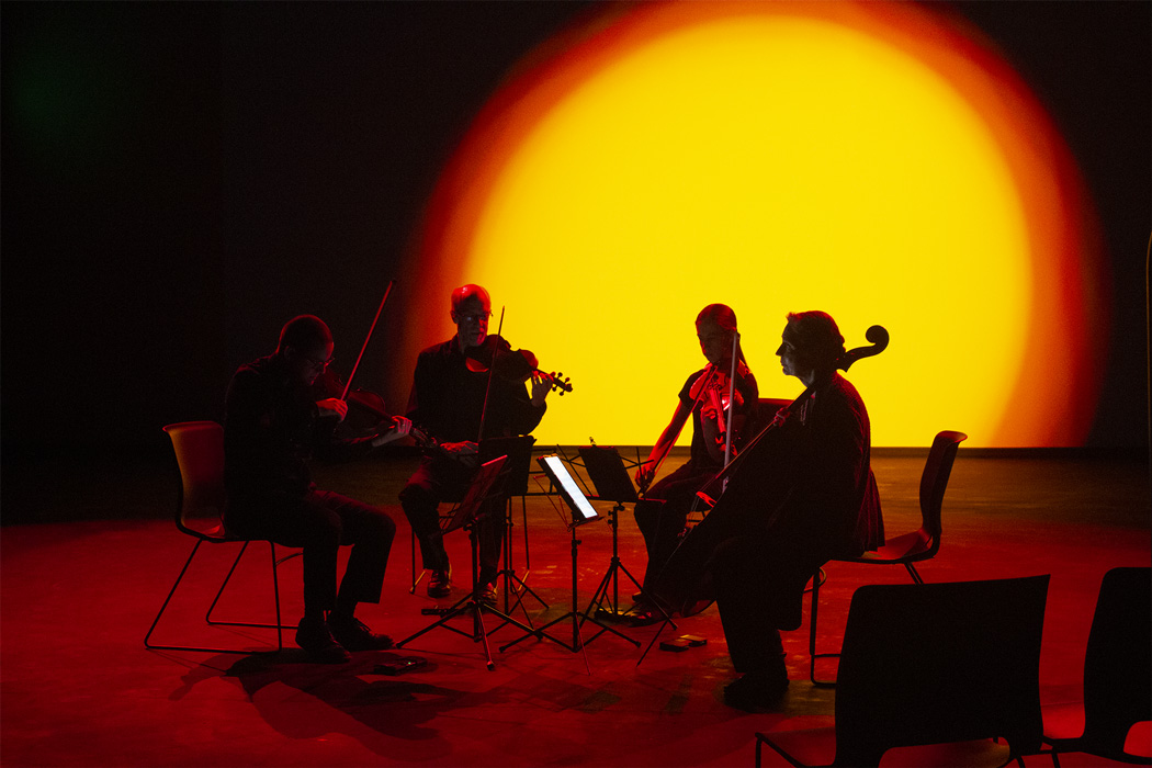 Switchgrass String Quartet performing opening weekend at the Charlotte Street Foundation. (from the artist)