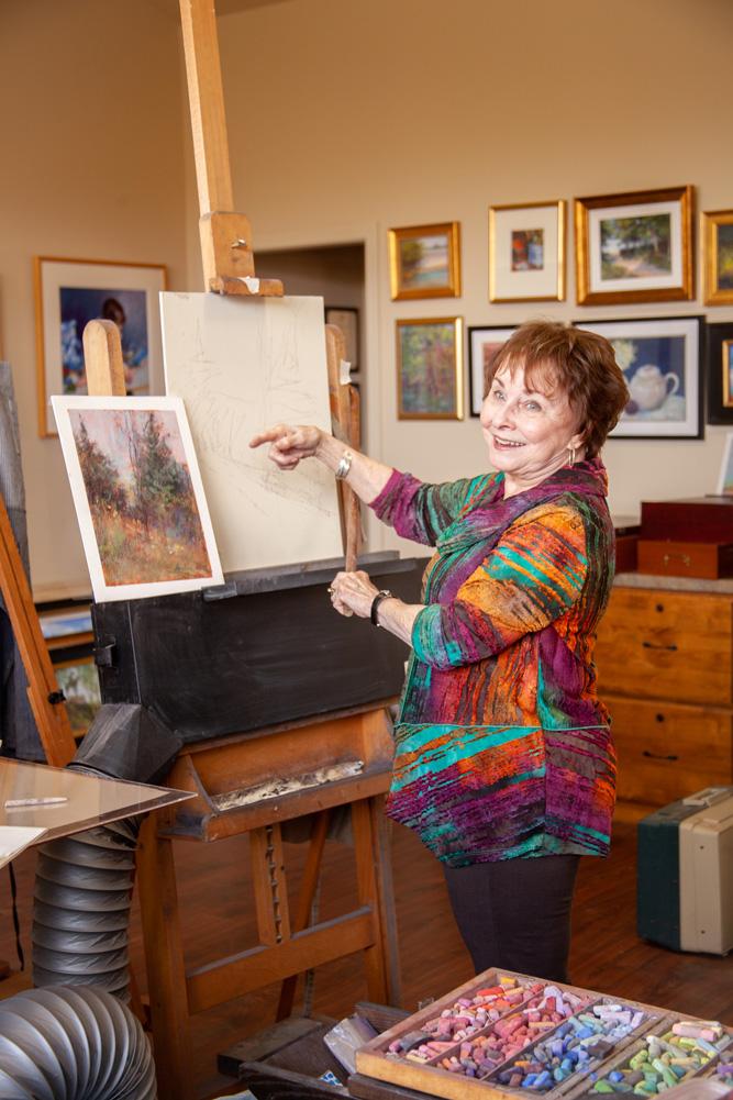 Beverly Carden Amundson in her home studio in Lenexa, Kansas