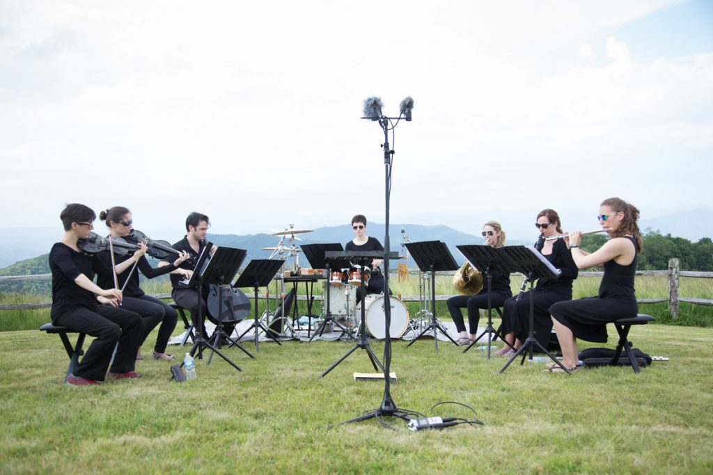 Also in June 2016, the ensemble performed at Purchase Knob in the North Carolina side of Great Smoky Mountains National Park.
