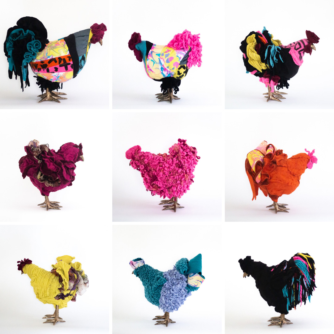 Chicken footstools by Whitney Manney for The City Girl Farm (photography by The City Girl Farm)