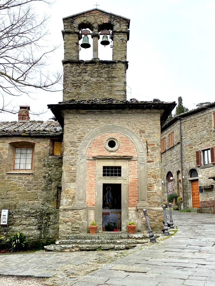 Small chapels are scattered throughout Cortona.