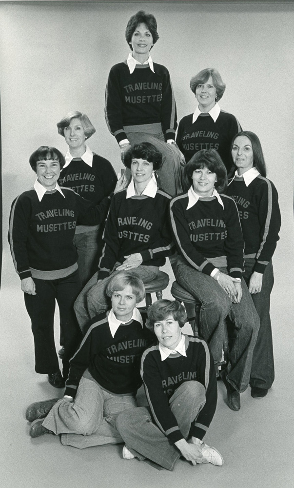 The Traveling Musettes were organized in 1976, continuing the mission of the museum's auxiliary of taking education out to schools and other organizations. This group created a museum-related program for area preschoolers.